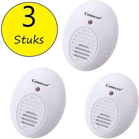 Cenocco Cenocco Ongedierte Alarm – Verjaagd Muizen Insecten Ratten – Elektromagnetische Pulsen en Echografie – CC-9062
