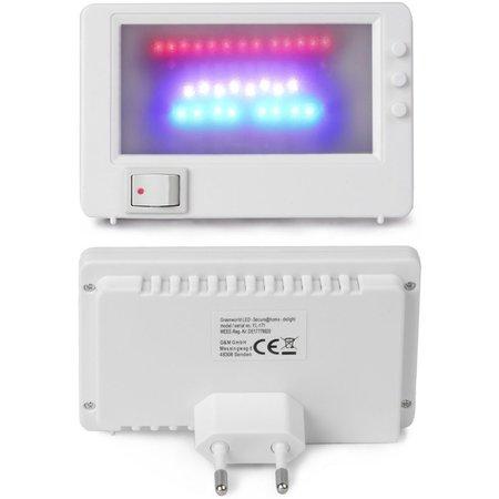 Secure Home Secure@Home LED TV Simulator - 1 Stuks - 11x7x2 cm | Dummy Televisietoestel | Fake TV Licht Lamp | Inbraakbeveiliging en Preventie bij Afwezigheid