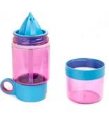 Banzaa Kid Zinger kinder drinkfles 470ml Juicer - Roze met blauw