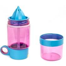 Kid Zinger kinder drinkfles Juicer - Roze met blauw