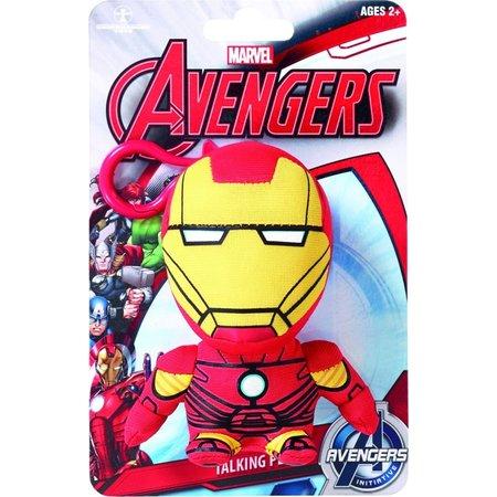 Marvel Avengers Iron Man Pluche Sleutelhanger – 12x6x7cm   Bagclip   Superhelden Speelgoed