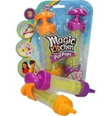 Banzaa Magic Kitchen Pull Pops Ijslolly Spuit voor Kinderen - Paars en Oranje - 21x5 cm - 2 Stuks | Ijsjesmaker voor Yoghurtijsjes en Waterijsjes | Ijsjesvormen | Ijs Vormjes | Ijsjes Maken | Vries Vormen