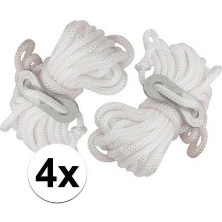 Banzaa 4x Scheerlijnen van nylon - 3,5 meter - touw met gatspanners