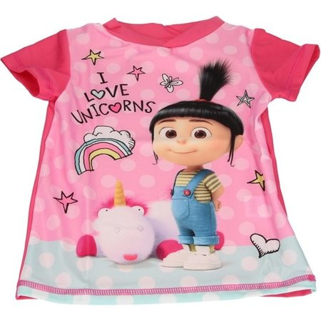 Minions Minions Despicable Me 3 Meisjes UV T-Shirt – Maat 128/134 – UPF 40+ Bescherming Tegen de Zon | Beschermende Kleding voor Kinderen