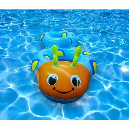 Playing Kids Playing Kids Koppelbare Blauwe Kevertjes Zwembanden voor 2 Kinderen – 160x65x65cm | Opblaasbare Zwemringen voor in het Water, Strand of Zwembad | Veilig Zwemmen | Zwemveiligheid | Zwemtrainer