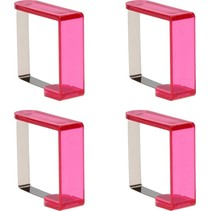 Tafelkleedklemmen 4 Stuks Roze