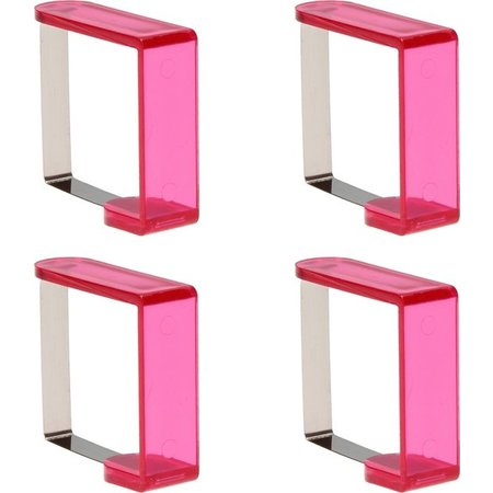 Banzaa Tafelkleedklemmen 4 Stuks Roze – 5x4x2cm | Tafelkleedgewichten | Klemmen voor het Tafellaken