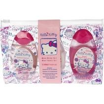 Hello Kitty 3-delige Mini Reis Set in Meeneemverpakking met Douchegel Shampoo en Body Lotion – 3 x 50 ML – 13x19x3cm | Badproducten voor in het Vliegtuig | Vakantie | Verzorging voor Vrouwen