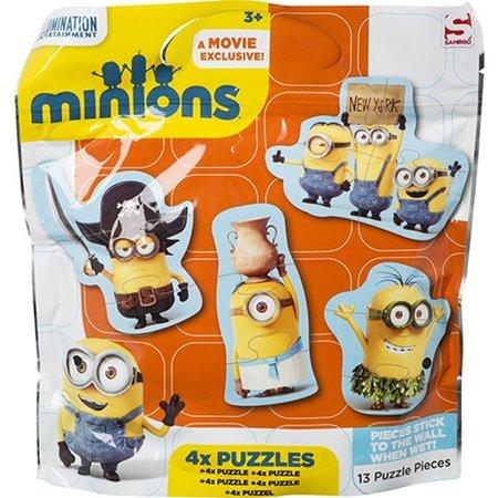 Minions Despicable Me Minion Badpuzzel 4 Stuks – 16x20x2cm | Verschrikkelijke ikke puzzel | Speelgoed voor Kinderen voor in de Badkamer | Bad speelgoed