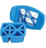 Banzaa Funbites Blauwe driehoeken Fruitsnijder – 16x15x4cm   Voor het Snijden van Fruit in Hapbare Stukjes