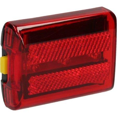 Banzaa Multifunctioneel Rood Veiligheids Licht met Grip met Batterijen – 7x5x2cm | Waarschuwingslamp voor de Fiets, Kinderwagen of Scooter | Zichtbaar tot 800 meter