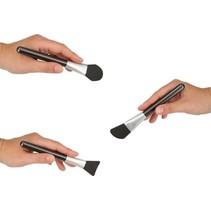 3-delige Siliconen Make-up Foundationkwasten