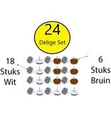 Benson Benson Viltglijders – 24 delige Meubelvilt voor Onder banken en Stoelen – 24mm | Vloerbeschermer | Anti Kras Vilt | Anti Slip Stoelpoot | Stoel Beschermers