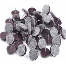 Viltglijders met nagel 24 mm 24 stuks