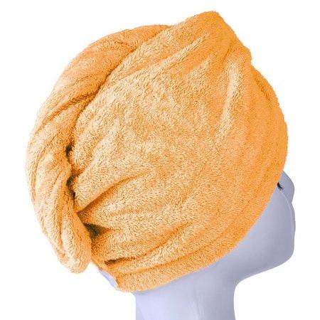 Banzaa Oranje Microvezel Handdoek Droogt Uw Natte Hoofdhaar 7x Sneller – Orange   Absorberende Voorgevormde Hoofdhanddoek Geschikt Voor Drogen van Kort en Lang Kapsel   Haartulband Voor Snel Opdrogen van Nat Haar Na het Douchen of Baden   Haarwikkels