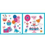 Lief! Lifestyle Lief! Roze Muurstickers voor in de Kinderslaapkamer – 31x30x1cm | Decoratie voor aan de Muur | Verwijderbaar en Herplaatsbare Wandplaatjes