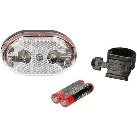 Banzaa Multifunctionele 9 LED Fiets Verlichting - Wit - Inclusief Batterijen