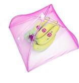 Banzaa Vliegenkap Opvouwbaar 2 Stuks – 30x20cm – Kanten Design – Pop Up Insecten Net – Beschermd uw eten tegen Vliegen – Roze