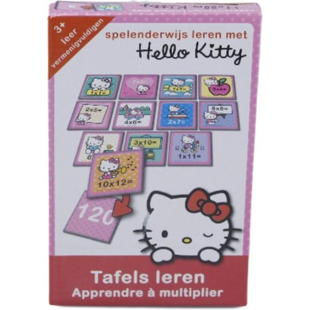 Hello Kitty Leer Tafels met Hello Kitty – 30x13x3cm | Leerspel voor Kinderen | Tafels Oefenen | Leren Vermenigvuldigen | Educatieve Spellen