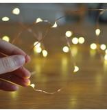 Banzaa 20 ledverlichting Warm Wit voor Indoor Gebruik met Koperdraad – 115 cm | Lichtsnoer Lampjes voor Feesten en Partijen | Sfeerverlichting