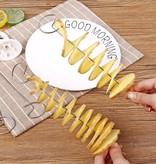 Banzaa Spiraalsnijder met Tool voor Accuboormachine – Ook geschikt voor Accuboor – Voor het maken van Chip Twisters – Aardappel Snijder