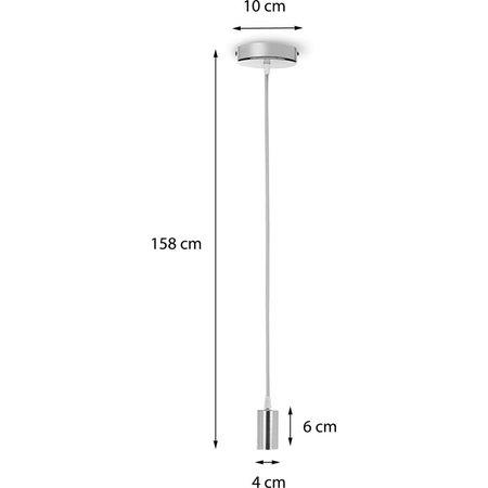 Banzaa Pendant Licht – 158x10x4cm | Plafondlamp zonder Peertje | Lichtsnoer voor Hanglamp