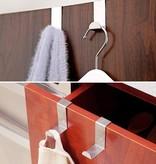 Banzaa RVS Deurhaak Set - 4 Stuks voor Ophangen Theedoek / Handdoek | Zonder Te Schroeven | Roestvrijstaal | Kapstokken | Deurhaken | Ophanghaak | Ophanghaken | Deur Haken