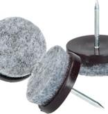 Banzaa Viltglijder met Nagel 48 Stuks – 24mm – Vloerbeschermer – Anti-krasvilt – Anti-slip Stoelpoot