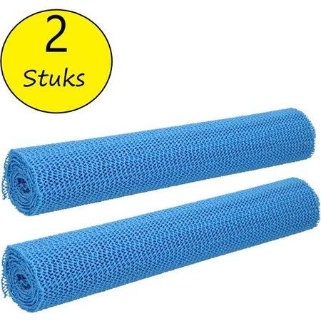 BDO Antislipmat 2 stuks – 30x150cm – Anti Slip Onderkleed op Rol – Blauw