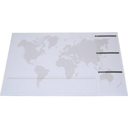 Banzaa Wereld Kraskaart met Grote Notitievellen voor op het Bureau – 32x50cm | Notitieboek | Scratch Map | Wereld Kaart Kras de Landen in Waar u Geweest Bent