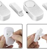 Benson 2x Draadloze Mini-Alarmen Set met Sensor - 2 Stuks  - 95 dB - Inclusief Batterijen en Montageset | Pakket van 2 Magnetische Deur en Raam Sensor Alarmsystemen | Woningbeveiliging | Waarschuwings Alarm Tegen Inbrekers en Indringers