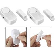 2 stuks Draadloze Mini-Alarmen Set met Sensor