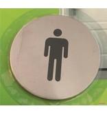 Banzaa Toiletbordje Man – 6,5 cm – WC Bordje Geslachtsaanduiding – Wc Bordje – Pictogram