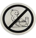 Banzaa Toilet Deurbordje Verboden Staand te Plassen – 7cm – Wc Bordje – Pictogram