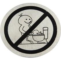 Toilet Deurbordje Verboden Staand te Plassen