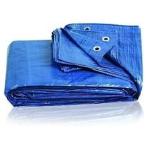 Blauw Dekzeil 6x4m 100gr/m2 | Waterdicht en Zeer Sterk  Afdekzeil, Grondzeil