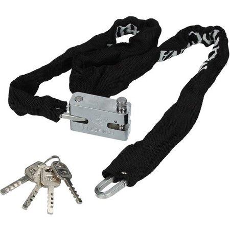 Banzaa AC Kettingslot van Roestvrijstaal voor de Motor, Brommer en Scooter – 99x3cm | Motorrijden | Veilig stallen van uw Voertuig