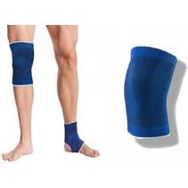 Unisex Blauwe Compressie Knie Brace - 2 stuks