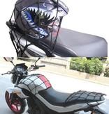 Banzaa Premium Bagagenet met 6 Haken Blauw – 25x25cm – 55x55 Uitgerekt | Spin, Motorfiets, Scooter en Fiets