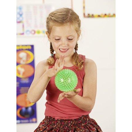 Banzaa Disco Meteoor Stressbal Groen – 8cm | Massagebal met Disco Effect | Versterking van de Hand Pols en Onderarm | Stress Speelgoed | Lacrosse bal  Triggerpoints