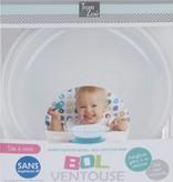 Banzaa Eetkom met Zuignap voor Baby's vanaf 6 Maanden grijs – 14x6cm   Magnetron Bestendig Bord voor Kindjes