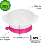 Banzaa Eetkom met Zuignap voor Baby's vanaf 6 maanden Roze – 14x6cm   Magnetron Bestendig Bord voor Kindjes