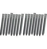 Banzaa Klassieke Stalen V-vormige Tentharingen Set - 16 stuks - 18 cm | Lange Hoekharingen van Staal voor Opzetten Tent | Halfronde Haringen | Camping | Kamperen
