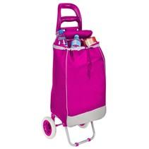 Roze Opvouwbare Trolley Boodschappen Tas