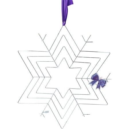 Present Time Kerstster om Kerstkaarten in Op te Hangen – Kaarthouder – Zilverkleurig