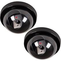 2x Dummy LED Beveiligingscamera met Bewegingssensoren