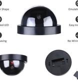 Banzaa Premium 2x Dummy LED Beveiligingscamera Set met Bewegingssensoren – 12x8cm – Zwart – 2 Stuks | Draadloze Nepcamera Met Rode Led op Batterijen | Knipperende Camera Beveiliging Voor Binnen en Buiten | Buitencamera | CCTV Dome Bewakingscamera