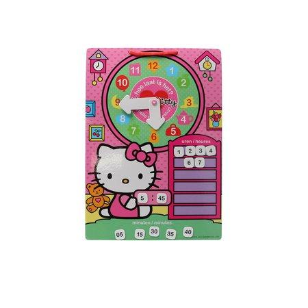 Hello Kitty Leer Klok kijken met Hello Kitty – 30x21x1cm | Kinder Spel om te leren Klokkijken | Wat is de Tijd? Spel | Educatief Spel voor Kinderen vanaf 3 Jaar en Ouder