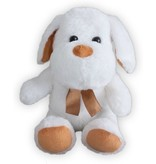 Sunkid Sunkid - Knuffel Hond met ledlampjes - Licht gevende hond - Wit-Bruin - ca. 30 cm