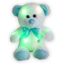 Teddybeer met ledlampjes Beer Blauw